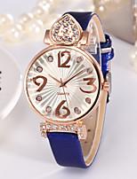 cheap -Women's Quartz Watches Fashion Blue Red TPU Chinese Quartz Blushing Pink Red Blue Adorable 1 pc Analog One Year Battery Life