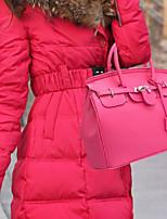 Недорогие -Жен. PU Сумка с верхней ручкой Сплошной цвет Верблюжий / Пурпурный / Красный