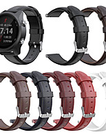 cheap -Watch Band for Vivoactive 3 / Forerunner 645 / Garmin Forerunner245 Garmin Sport Band Genuine Leather Wrist Strap