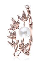 Недорогие -женские броши классический лепесток стильные классические украшения золото серебро для вечеринки подарок повседневная работа фестиваль