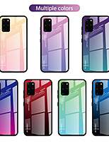 cheap -Case For Samsung Galaxy S9 / S9 Plus / S8 Plus Shockproof / Pattern Back Cover Color Gradient / Word / Phrase TPU / Tempered Glass
