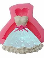 Недорогие -Diy вечернее платье торт свадебный фондант силиконовые формы 1 шт.