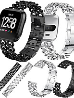 cheap -Watch Band for Fitbit Versa / Fitbit Versa2 Fitbit Jewelry Design Stainless Steel Wrist Strap