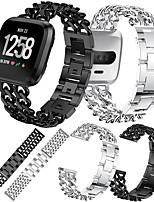 Недорогие -Ремешок для часов для Fitbit Versa / Fitbit Versa2 Fitbit Дизайн украшения Нержавеющая сталь Повязка на запястье