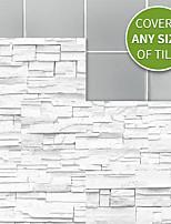 Недорогие -20x10cmx9 шт. Белый камень кирпичные стены наклейки ретро маслостойкие водонепроницаемые плитки обои для кухни ванная комната земля стены украшения дома
