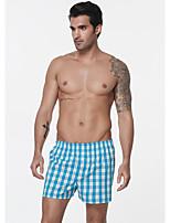 cheap -Men's Print Boxers Underwear - EU / US Size Mid Waist Blue M L XL