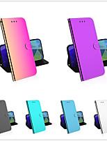 Недорогие -чехол для яблока карта сцены iphone 11 11 pro 11 pro max зеркальная серия флип кожаный чехол яркий пу материал может вставить карту кожаный чехол мобильный телефон чехол tx