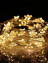 Недорогие -5 м 50led звезда звездный провод медной проволоки огни рождественская фея свет гирлянды батарея работает для украшения свадьбы (приходят без батареи)