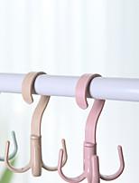 Недорогие -многофункциональный поворот на 360 градусов четыре крючка крючки сухой мокрой двойного назначения вешалка для полотенец домашняя одежда обувь всякая всячина организаторы цвет случайный
