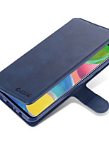 cheap -Case For Samsung Galaxy Samsung Galaxy A10s / Samsung Galaxy A20s / A71 Wallet / Card Holder / Flip Full Body Cases Solid Colored PU Leather
