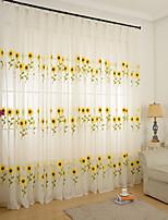 Недорогие -две панели корейский пастырском стиле полупрозрачный подсолнечника вышитые марли гостиная спальня экран окна детской комнаты