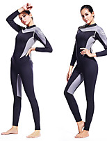 cheap -ZCCO Women's Full Wetsuit 1.5mm SCR Neoprene Diving Suit Long Sleeve Back Zip Patchwork Autumn / Fall Spring Summer / Winter / High Elasticity