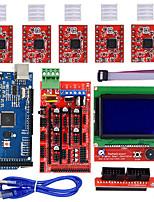 Недорогие -3d наборы принтеров рампы 1.4 мега2560 12864 жк-контроллер a4988 для arduino reprap