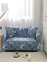 Недорогие -синяя цветочная печать пылезащитный всесильный чехлы из эластичного чехла на диван из мягкой ткани с одной бесплатной наволочкой