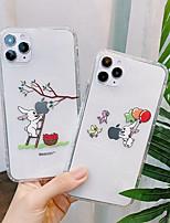 Недорогие -Кейс для Назначение Apple iPhone 11 / iPhone 11 Pro / iPhone 11 Pro Max Ультратонкий / Прозрачный / С узором Кейс на заднюю панель Прозрачный / Животное / Мультипликация ТПУ