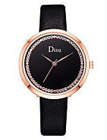 cheap -Ladies Quartz Watches Elegant Fashion Black White Blue PU Leather Chinese Quartz Light Brown Lace Blushing Pink Red Casual Watch Imitation Diamond 1 pc Analog One Year Battery Life