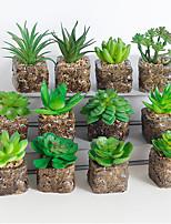 Недорогие -1 шт искусственное растение в горшке украшения дома