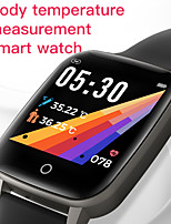 cheap -T1 Thermometer Smart Wristbands Unisex Smart watch Bluetooth Touch Screen Heart Rate Monitor Blood Pressure Measurement Calories Burned Thermometer ECGPPG Pedometer Activity Tracker for Iphone