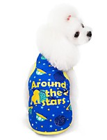 Недорогие -Собаки Жилет Одежда для собак Зеленый Синий Костюм Хаски Лабрадор аляскинского маламута Хлопок геометрический Цитаты и выражения На каждый день S M L XL XXL
