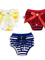 cheap -Dog Pants Dog Clothes Yellow Red Blue Costume Husky Golden Retriever Dalmatian Cotton Stripes Bowknot Stripes S M L