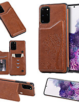 Недорогие -Кейс для Назначение SSamsung Galaxy Galaxy S10 / Galaxy S10 Plus / Galaxy S10 E Кошелек / Бумажник для карт / Защита от удара Кейс на заднюю панель дерево Кожа PU
