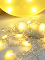 Недорогие -1m Гирлянды 10 светодиоды Тёплый белый Для вечеринок / Декоративная 5 V