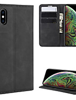 cheap -For  iphone XS Max Retro-skin Business Magnetic Suction Leather Case with Holder & Card Slots & Wallet