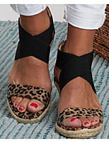 cheap -Women's Sandals Wedge Sandals Summer Wedge Heel Open Toe Daily PU Brown / Beige