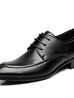 Недорогие -Муж. Полиуретан Весна лето Английский Туфли на шнуровке Черный