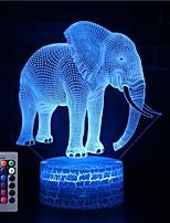 Недорогие -3d иллюзия ночник настольная лампа слон с пультом дистанционного управления&усилитель; сенсорный выключатель 16 цветов домашнего декора подарок для детей
