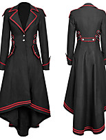 cheap -Plague Doctor Vintage Steampunk Winter Coat Masquerade Tuxedo Women's Costume Black Vintage Cosplay Party Halloween Long Sleeve