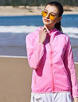 Недорогие -Жен. Кожаная куртка Куртка для туризма и прогулок Лето на открытом воздухе Пэчворк Водонепроницаемость С защитой от ветра Защита от солнечных лучей Дышащий Жакет Верхняя часть Спандекс Односторонняя