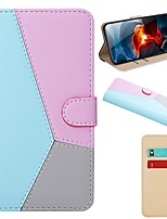 cheap -Case For Samsung Galaxy A50/A91 / M80S / A81 / M60S Wallet / Card Holder / with Stand Full Body Cases Geometric Pattern PU Leather For Galaxy S20 Plus/S20 Ultra/A01/A21/A51/A71/A30S/A50S/A70E