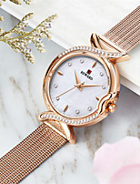 cheap -Women's Steel Band Watches Luxury Fashion Stainless Steel Japanese Quartz Rose Gold Purple Gold Water Resistant / Waterproof 30 m 1 pc Analog One Year Battery Life