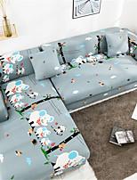 Недорогие -мультфильм слон принт пылезащитный всесильный чехлы стрейч l форма чехол для дивана супер мягкая ткань чехол для дивана с одной бесплатной наволочкой
