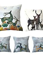Недорогие -5 шт. Декоративная подушка простой классический 45 * 45 см подушки винтаж круг обложка диван домашний декор бросить наволочку