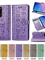 cheap -Case For Samsung Galaxy S9 / S9 Plus / S8 Plus Wallet / Card Holder / with Stand Full Body Cases Solid Colored / Animal PU Leather For Galaxy S20/S20 Plus/S20 Ultra/S10/S10E/S10 Plus/S8