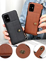 cheap -Case For Samsung Galaxy S20 Plus / S20 Ultra / S20 Card Holder / Shockproof / Flip Back Cover Solid Colored PU Leather / TPU