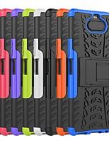 Недорогие -чехол для Sony Xperia 5 / Sony Xperia 1 / Sony Xperia 8 противоударный / с подставкой задняя крышка броня ТПУ / ПК
