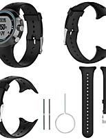 Недорогие -черный силиконовый каучук замена ремешок ремешок для Garmin Swim
