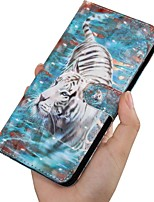cheap -Case For Samsung Galaxy A5(2018) / A6 (2018) / A6+ (2018) Wallet / Card Holder / with Stand Full Body Cases Animal PU Leather