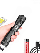 cheap -xhp50 LED Flashlights / Torch Waterproof 3000 lm LED LED 1 Emitters 5 Mode with USB Cable Waterproof Professional Durable Creepy Camping / Hiking / Caving Everyday Use Cycling / Bike USB Natural