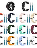 Недорогие -Ремешок для часов для Fenix6 / Fenix6s / Fenix6X Garmin Спортивный ремешок силиконовый Повязка на запястье