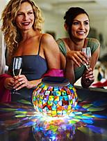 Недорогие -изменение цвета солнечные настольные светильники мозаика стеклянный шар светодиодный ночной свет для патио садовые настольные лампы для украшения