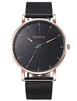 cheap -Unisex Quartz Watches Elegant Fashion Black Rose Gold Alloy Chinese Quartz Rose Gold Golden+Black Red Casual Watch 1 pc Analog One Year Battery Life