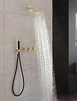 Недорогие -смеситель для душа - ливневый душ современная настенная установка латунный вентиль для ванны смесители для душа