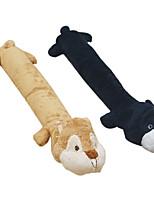 Недорогие -Плюшевые игрушки Игрушки с писком Собаки Животные Игрушки 1шт Подходит для домашних животных Портативные Фокусная игрушка Плюш Подарок