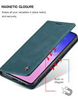 Недорогие -Caseme новый ретро бизнес кожаный магнитный флип чехол для Samsung Galaxy A91 / A81 / A71 / A51 с подставкой слот для карт памяти для Samsung Galaxy S10 Lite чехол