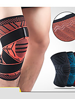 Недорогие -Фиксатор колена Колено рукав для Боль в суставах и артретит Бег Марафон Регулируется Фиксирующий шнурок Сжатие видеоизображений Быстровысыхающий Дышащий Муж. Жен. Нейлон 1 шт. Спорт На каждый день