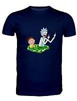 Недорогие -Вдохновлен Рик и Морти Как у футболки Полиэстер С принтом Рисунок Футболка Назначение Муж. / Жен.
